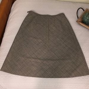 Ann Taylor a like skirt gray with squares